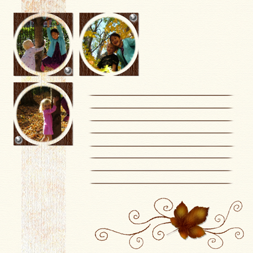 "Scrapbook template ""Fall #16"" in ""Fall"""