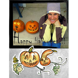 "Scrapbook template ""Painted Halloween #05"" in ""Halloween"""