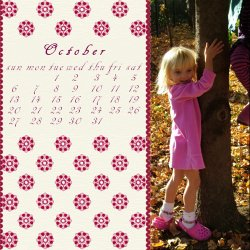 "Scrapbook template ""October #08"" in ""Calendars 2008"""