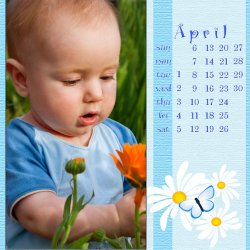 "Scrapbook template ""April #05"" in ""Calendars 2008"""
