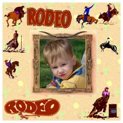 "Scrapbook template ""Rodeo #4"" in ""Misc"""