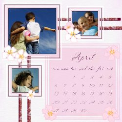 "Scrapbook template ""April #01"" in ""Calendars 2008"""
