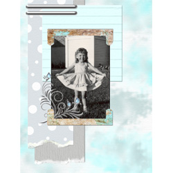 "Scrapbook template ""Silver Dreams #09"" in ""Silver Dreams"""