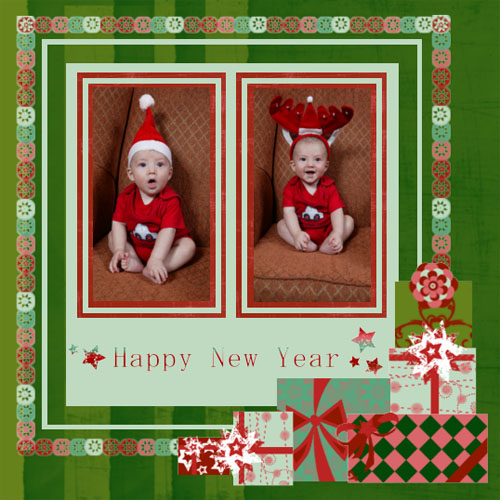 "Scrapbook template ""New Year 2009 #20"" in ""New Year"""