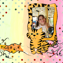 "Scrapbook template ""Funny zoo #10"" in ""Family"""