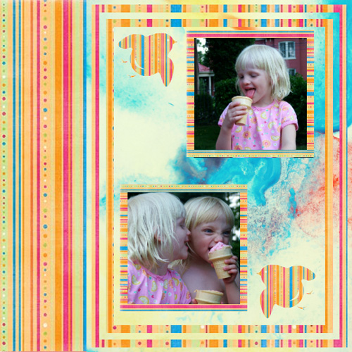 "Scrapbook template ""Friends #37"" in ""Friends Scrapbooking"""