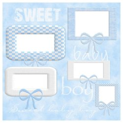 "Scrapbook template ""Sweet Baby Boy #4"" in ""Baby Scrapbooking"""