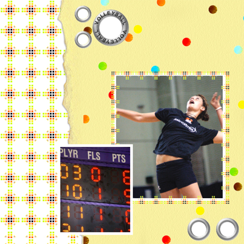 "Scrapbook template ""Volleyball #06"" in ""Sport"""