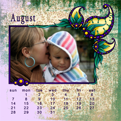 "Scrapbook template ""August #02"" in ""Calendars 2011"""
