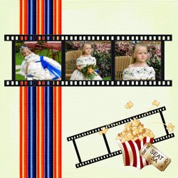 "Scrapbook template ""Cinema #10"" in ""Fan Pages"""