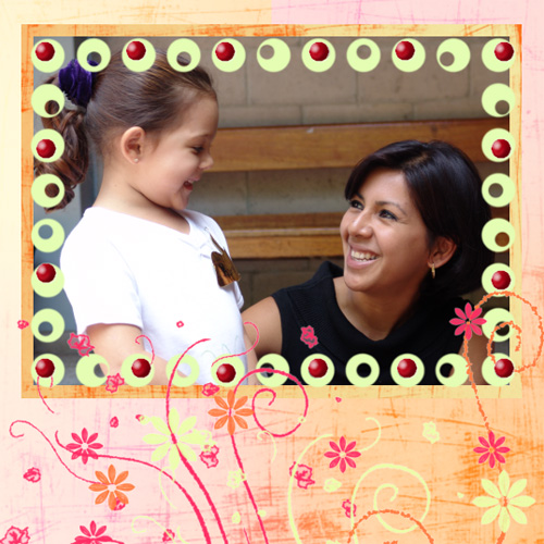 "Scrapbook template ""Friends #40"" in ""Friends Scrapbooking"""