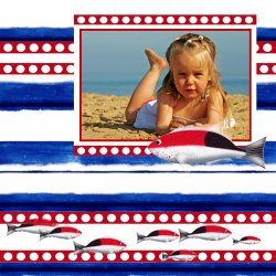 "Scrapbook template ""Sea life #04"" in ""Sea life"""