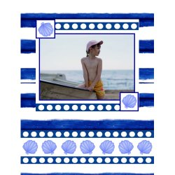 "Scrapbook template ""Sea life #16"" in ""Sea life"""