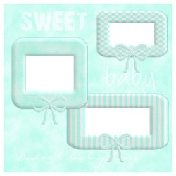"Scrapbook template ""Sweet Baby Boy #3"" in ""Baby Scrapbooking"""