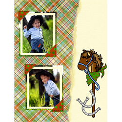 "Scrapbook template ""Wild West #07"" in ""Travel"""