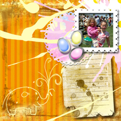 "Scrapbook template ""Easter 2010 #04"" in ""Easter"""