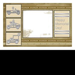 "Scrapbook template ""Memorial Day Card #5"" in ""Military"""