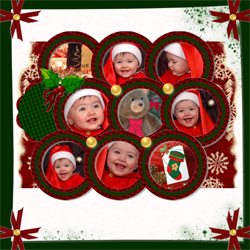 "Scrapbook template ""Christmas 09 #12"" in ""Christmas Scrapbooking"""