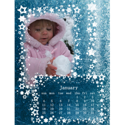 "Scrapbook template ""January #15"" in ""Calendars 2009"""