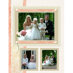 "Scrapbook template ""Wedding #07"" in ""Wedding Scrapbooking Templates"""