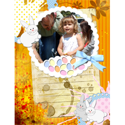 "Scrapbook template ""Easter 2010 #11"" in ""Easter"""