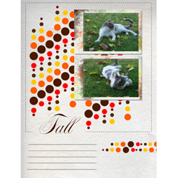 "Scrapbook template ""Fall #09"" in ""Fall"""