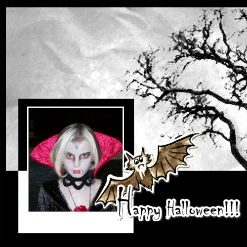 "Scrapbook template ""Painted Halloween #18"" in ""Halloween"""