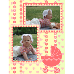 "Scrapbook template ""Baby Shower #01"" in ""Baby Shower"""