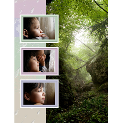 "Scrapbook template ""Rainy Day #13"" in ""Seasonal"""