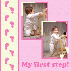 "Scrapbook template ""Baby firsts #10"" in ""Firsts"""