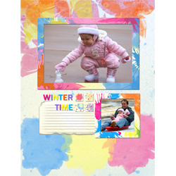 "Scrapbook template ""Winter time #17"" in ""Winter Vacation"""