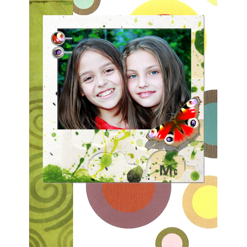 "Scrapbook template ""Summer"