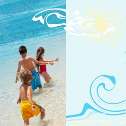 "Scrapbook template ""Summer #05"" in ""Summer Vacation"""