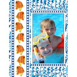 "Scrapbook template ""Sea life #11"" in ""Sea life"""
