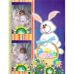 "Scrapbook template ""Easter #23"" in ""Easter"""