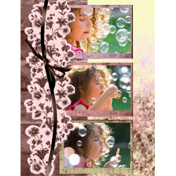 "Scrapbook template ""Shabby chic #09"" in ""Shabby chic"""