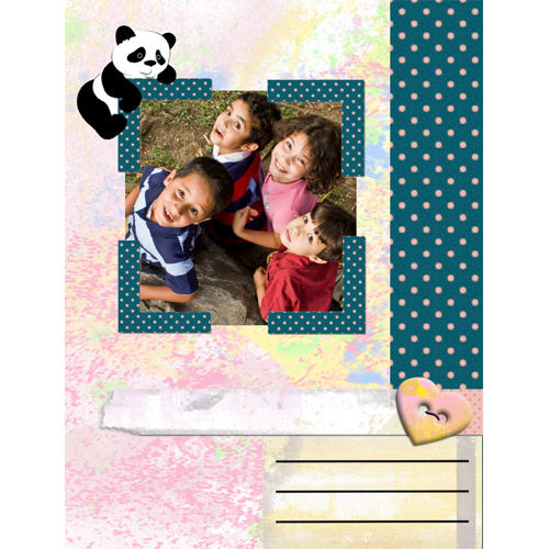 "Scrapbook template ""Funny zoo #15"" in ""Family"""