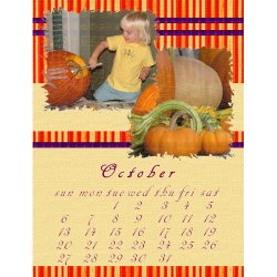 "Scrapbook template ""October # 17"" in ""Calendars 2008"""