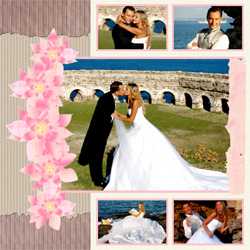 "Scrapbook template ""Wedding #18"" in ""Wedding Scrapbooking Templates"""
