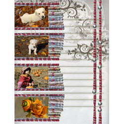 "Scrapbook template ""Fall #19"" in ""Fall"""