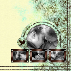 "Scrapbook template ""Shabby chic #16"" in ""Shabby chic"""