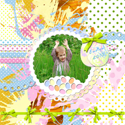 "Scrapbook template ""Easter 2010 #14"" in ""Easter"""