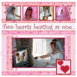 "Scrapbook template ""Wedding #3"" in ""Wedding Scrapbooking Templates"""