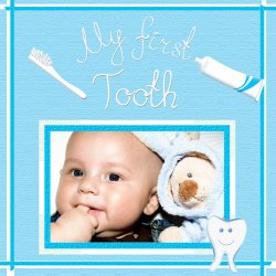"Scrapbook template ""Baby firsts #04"" in ""Firsts"""