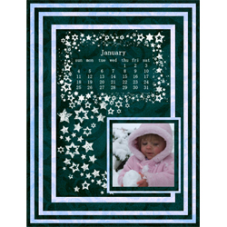 "Scrapbook template ""January #17"" in ""Calendars 2009"""