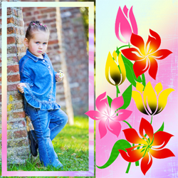 "Scrapbook template ""Spring #25"" in ""Spring"""