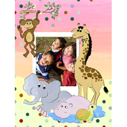 "Scrapbook template ""Funny zoo #13"" in ""Family"""
