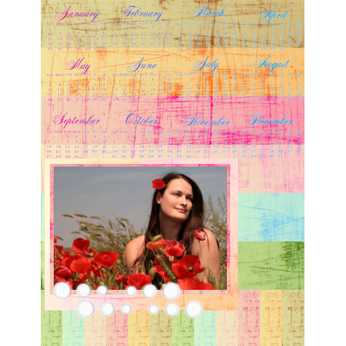 "Scrapbook template ""Calendar2009 #11"" in ""Calendars 2009"""