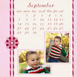 "Scrapbook template ""September #02"" in ""Calendars 2008"""
