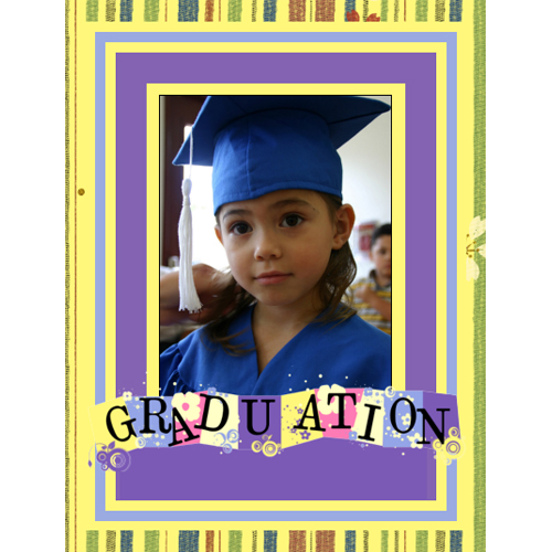 "Scrapbook template ""Graduation #17"" in ""Graduation"""